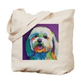 Havanese Canvas Totes