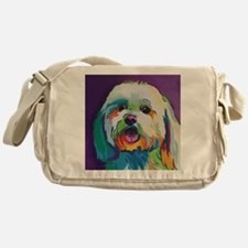 Dash the Pop Art Dog Messenger Bag