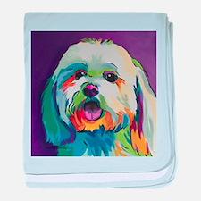 Dash the Pop Art Dog baby blanket