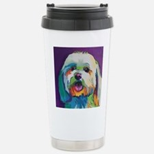 Dash the Pop Art Dog Stainless Steel Travel Mug