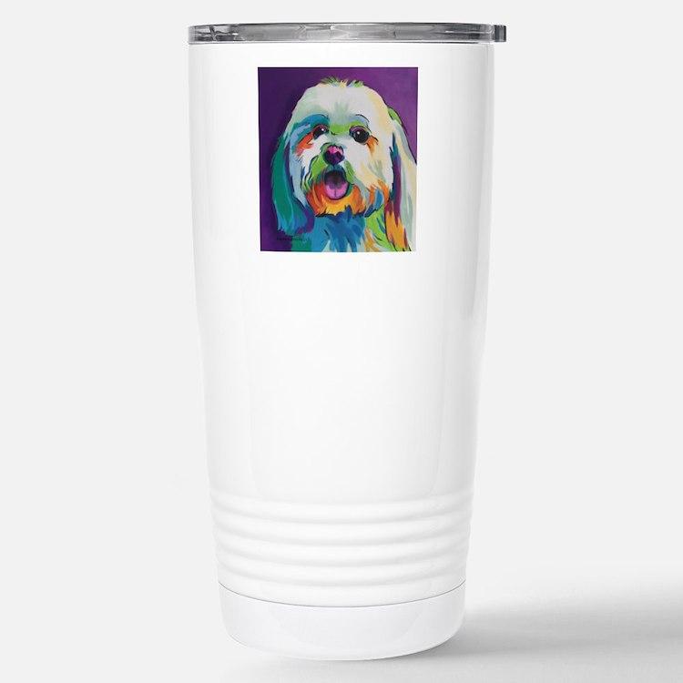 Dash the Pop Art Dog Stainless Steel Travel Mug