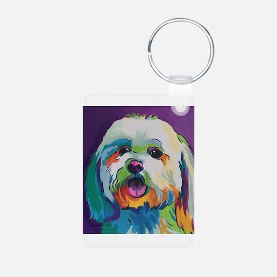 Dash the Pop Art Dog Keychains