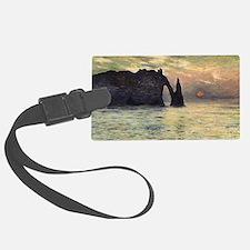 Claude Monet, Cliff Etretat Suns Luggage Tag