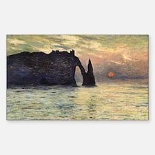 Claude Monet, Cliff Etretat Sunset Decal