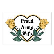 Yellow Rose - Army Wife Postcards (Package of 8)