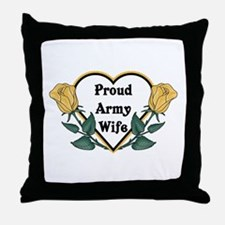 Yellow Rose - Army Wife Throw Pillow