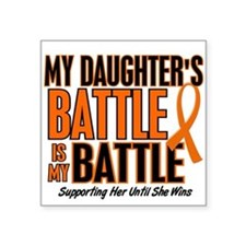 "Unique Kidney cancer orange ribbon Square Sticker 3"" x 3"""