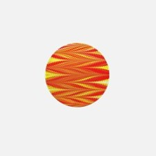 Zigzag Bright Orange Mini Button