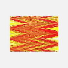 Zigzag Bright Orange 5'x7'Area Rug
