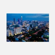 night Ho Chi Minh city Rectangle Magnet