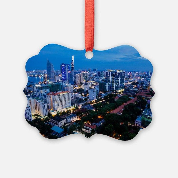 night Ho Chi Minh city Ornament