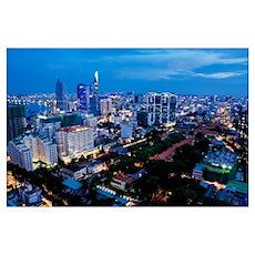 night Ho Chi Minh city Poster