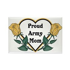 Yellow Rose - Army Mom Rectangle Magnet