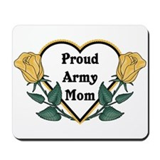 Yellow Rose - Army Mom Mousepad