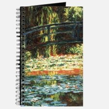 Bridge Over Water Lily Pond by Claude Mone Journal