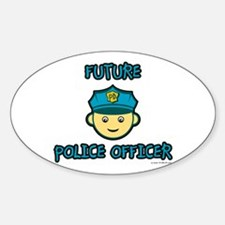 Future Police Officer Oval Decal
