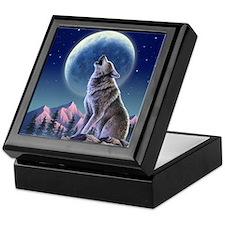 Howling Wolf 1 Keepsake Box