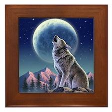 Howling Wolf 1 Framed Tile