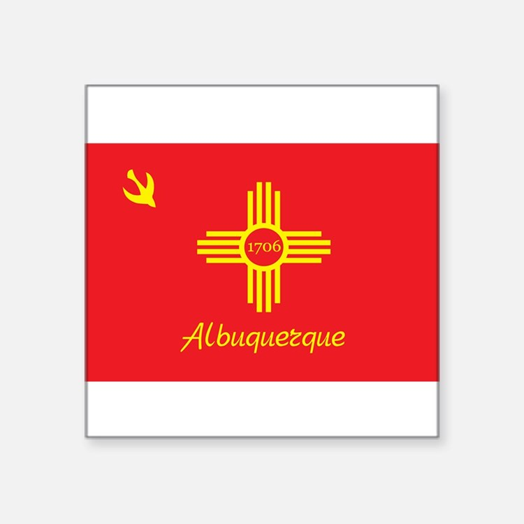 "Cute Albuquerque Square Sticker 3"" x 3"""