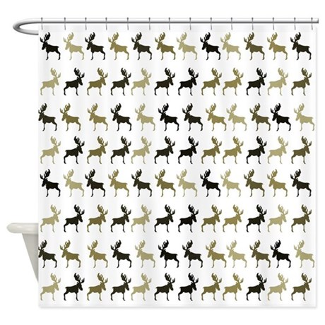 Moose Pattern Shower Curtain By HeartlandBay
