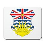 British Columbia Coat of Arms Mousepad
