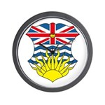 British Columbia Coat of Arms Wall Clock