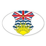 British Columbia Coat of Arms Oval Sticker