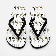 Moose Pattern Flip Flops