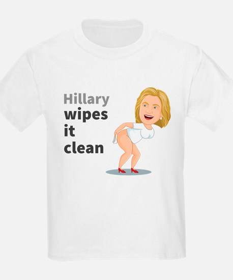 Hillary Wipes It Clean T-Shirt