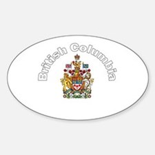 British Columbia Coat of Arms Oval Decal