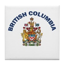 British Columbia Coat of Arms Tile Coaster