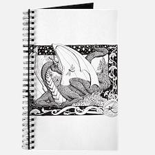 Cute Dragon on castle Journal