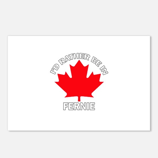 I'd Rather Be in Fernie Postcards (Package of 8)