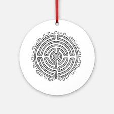 Celtic Labyrinth Mandala Round Ornament