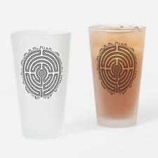 Celtic Labyrinth Mandala Drinking Glass
