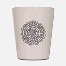 Celtic Labyrinth Mandala Shot Glass