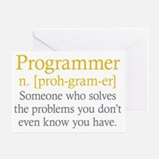 Programmer Definition Greeting Card