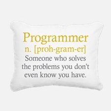 Programmer Definition Rectangular Canvas Pillow