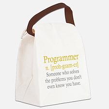 Programmer Definition Canvas Lunch Bag