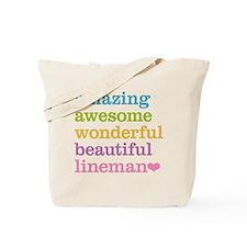 Amazing Lineman Tote Bag