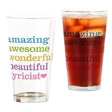 Amazing Lyricist Drinking Glass