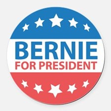 Bernie For President Round Car Magnet