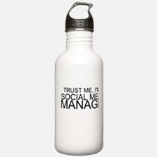 Trust Me, I'm A Social Media Manager Water Bottle