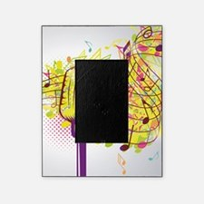 Colorful Retro Microphone Music Note Picture Frame