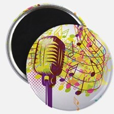 """Colorful Retro Microphone M 2.25"""" Magnet (10 pack)"""