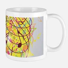 Colorful Retro Microphone Music Notes Mug