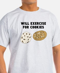 Will Exercise For Cookies T-Shirt
