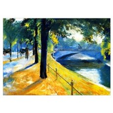 Bridge over the Landwehr Canal, fine art painting Poster