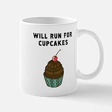 Will Run For Cupcakes Mugs
