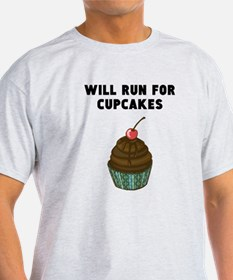 Will Run For Cupcakes T-Shirt